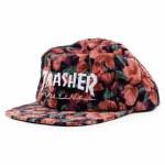 Thrasher Mens Mag Logo Snapback Hat-Pink Floral-OS