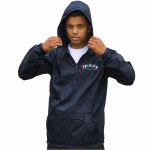 Thrasher Knock Off Pullover Anorak Jacket-Navy-M