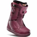 32 Womens Lashed Double Boa Snowboard Boot-Maroon-7.5