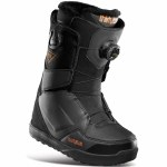 32 Womens Lashed Double Boa Snowboard Boot-Black-7.5