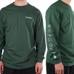 TOA Wing Ding Long Sleeve T Shirt-Forest Green-XL