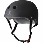 Triple 8 Brainsaver Helmet with Certified Sweatsaver Liner-Black Rubber-S/M