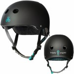 Triple 8 Brainsaver Helmet with Certified Sweatsaver Liner-Tony Hawk Black Rubber-L/XL
