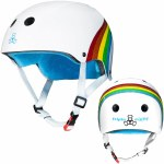 Triple 8 Brainsaver Helmet with Certified Sweatsaver Liner-Rainbow Sparkle White-L/XL