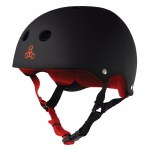 Triple 8 Brainsaver Helmet with Sweatsaver Liner-Black Rubber-L
