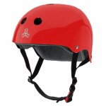 Triple 8 Brainsaver Helmet with Certified Sweatsaver Liner-Red Glossy-L/XL