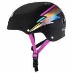 Triple 8 Brainsaver Helmet with Certified Sweatsaver Liner-Rainbow Sparkle White-L/XL