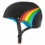 Triple 8 Brainsaver Helmet with Certified Sweatsaver Liner and Visor-Black Rainbow-XS/S