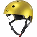 Triple 8 Brainsaver Helmet with Certified EPS Liner-Gold Metallic Flake-L/XL