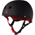 Triple 8 Brainsaver Helmet with Sweatsaver Liner-Black Rubber-XS