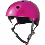 Triple 8 Brainsaver Helmet with Certified EPS Liner-Pink Metallic-L/XL