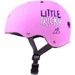 Triple 8 Little Tricky Jr. Helmet with Certified EPS Liner-Pink Rubber-XS