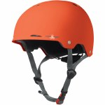 Triple 8 Gotham Helmet with Certified Conehead EPS Liner-Orange Rubber-L/XL