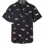 Vans Mens Metamorphosis Short Sleeve Button-Up-Black/Metamorphosis-S