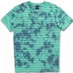 Vans Mens Tie-dye Checker Stripe Short Sleeve T-Shirt-Dusty Jade Green/Stargazer-S