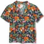Vans Womens KA Lanii Woven Short Sleeve Button-Up-Multi Tropic-S