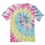 Vans Mens Drop V Tie Dye Short Sleeve T-Shirt-Rainbow Spectrum/Tie Dye-S
