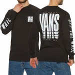 Vans Mens Reflect Long Sleeve T-Shirt-Black-S