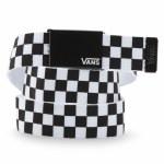 Vans Mens Long Depster Web Belt-Black/White Check-OS
