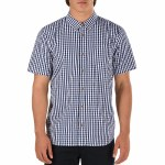 Vans Resh Short Sleeve Woven Shirt Boys-Dress Blues/White-L