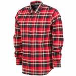 Vans Banfield II Long Sleeve Woven Shirt Boys-Black/Chili Pepper-L