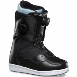 Vans Encore Pro Snowboard Boot Womens-Black/Light Blue-9.5