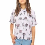 Vans Fare Short Sleeve Woven Womens-Evening Haze Paradise-S