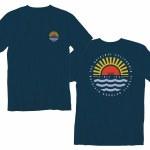 Vans Mens Sunset Beach Short Sleeve T-Shirt-Gibraltar Sea-S