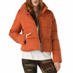 Vans Womens Foundry Puffer Jacket-Potters Clay-S