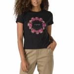 Vans Womens Coronet Short Sleeve T-Shirt-Black-S