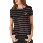 Vans Womens Evermore Short Sleeve T-Shirt-Black-S