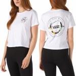 Vans Womens Leila Off Duty Short Sleeve T-Shirt-White-S
