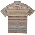 Vissla Mens Baja Del Sur Woven Short Sleeve Button-Up-Rusty Red-S