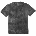 Vissla Mens Calipher Embroidered Tie Dye Short Sleeve T-Shirt-Black Heather-S