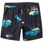 Vissla Mens Waikikooks Ecolastic 17.5 Boardshort-Black-S