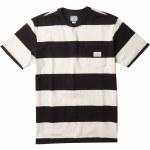 Vissla Mens Creators Block Stripe Eco Pocket Short Sleeve T-Shirt-Black-S