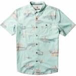 Vissla Mens Waikikooks Short Sleeve Button-Up-Mint-M
