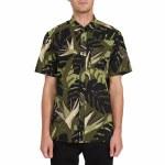 Volcom Mens Mentawaise Short Sleeve Button-Up-Military-S