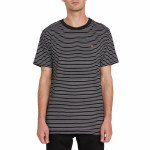 Volcom Mens Smithers Crew Short Sleeve T-Shirt-Black-M