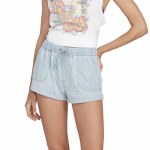 Volcom Womens Sunday Strut Short-Sun Faded Indigo-S
