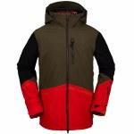 Volcom Mens BL Stretch GORE TEX Jacket-Red-S