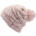 Volcom Womens Leaf Beanie-Faded Pink -OS