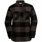 Volcom Pat Moore Sherpa Snowboard Jacket-Lumber Jack Plaid/Black Grey-M