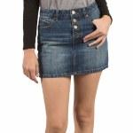 Volcom Stoned Mini Skirt Womens-Road Sky-S