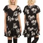 Volcom Slip N Slide Dress Womens-Black-S