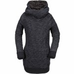Volcom Tower Pullover Fleece Hoody Womens-Black-M