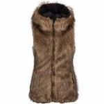 Volcom Rhea Faux Fur Vest Womens-Brown-M