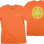 Welcome Vertigo Short Sleeve T Shirt-Orange/Lime-XL