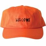 Welcome Scrawl Unstructured Slider-Orange/Black-OS
