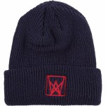 Welcome Icon Cuff Beanie-Navy/Red-OS